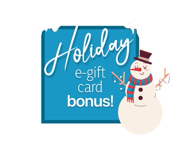 Holiday bonus e-gift card offer